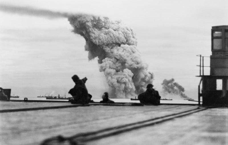 Взрыв транспорта с грузом тротила в конвое PQ-18. Сентябрь 1942 г.