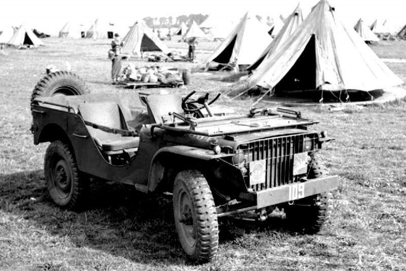 Внедорожник Ford GP британского подразделения, полученный из Америки по ленд-лизу. 1942 г.