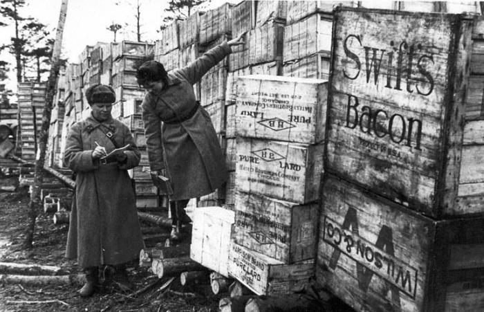 Грузы, поставленные в СССР по Ленд-лизу. 1942 г.