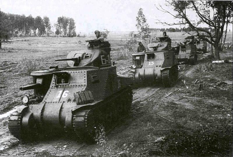 Американские танки М-3с на Центральном фронте. Июль 1943 г.