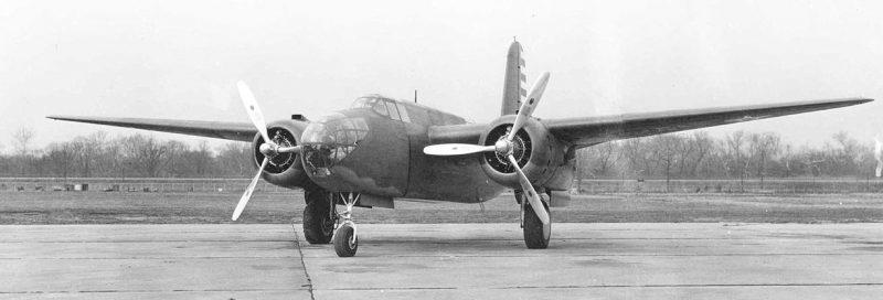 Многоцелевой американский самолет Дуглас А-20, поставляемый в СССР. 1943 г.